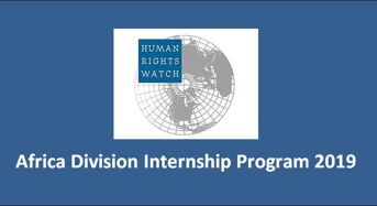 Africa Division Internship Program 2019