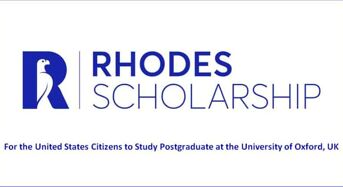 Rhodes funding for Citizens of the United States in the UK, 2020