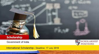 Government of India International AYUSH Scholarship, 2019-2020