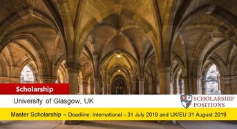 University of Glasgow FINTECH Scholarships for UK/EU and International Students in UK
