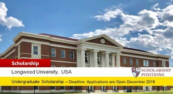 Longwood University Merit- based International Scholarship in USA