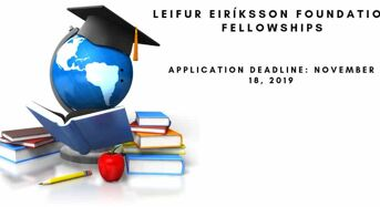 Leifur Eir íksson Foundation Fellowships for the US and Iceland Students 2019