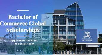 University of Melbourne Bachelor of Commerce Global Scholarships in Australia