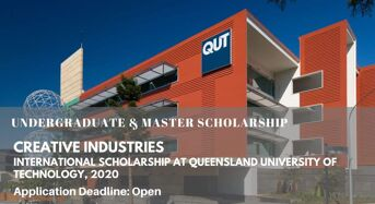 Creative Industries International Scholarship at Queensland University of Technology, 2020