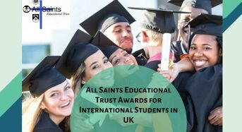 All Saints Educational Trust Awards for International Students in UK, 2020