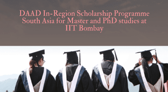 DAAD In-Regionprogramme South Asia for Master and PhD studies at IIT Bombay