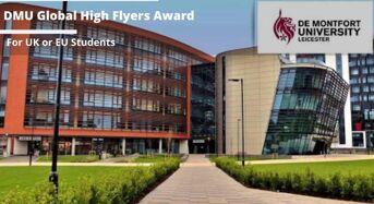 DMU Global High Flyers Award for UK and EU Students, 2020