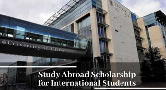 Study Abroad funding for International Students at Ulster University, 2020