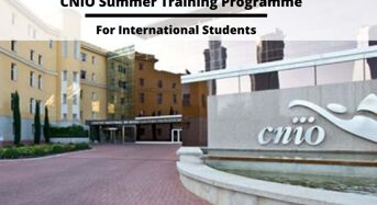CNIO Summer Training Programme for International Students in Spain
