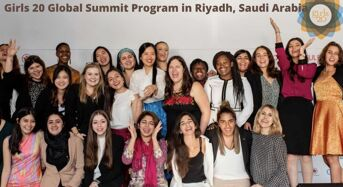 Girls 20 Global Summit Program in Riyadh, Saudi Arabia 2020