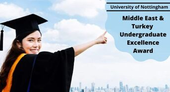 Middle East and Turkey UndergraduateExcellence Award at University of Nottingham, UK