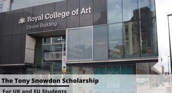 Tony Snowdon funding for UK and EU Students at Royal College of Art