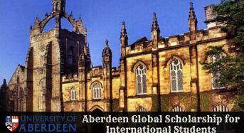 Aberdeen Global funding for International Students in UK, 2020