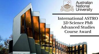 Australian National University International ASTRO 3D Science PhB Advanced Studies Course Award, 2020