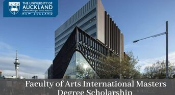 Faculty of Arts International Masters Degree Scholarship at University of Auckland, 2020