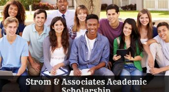 Strom & Associates Academic Scholarship in USA, 2020