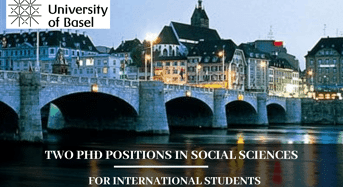 Two PhD Positions in Social Sciences for International Students in Switzerland