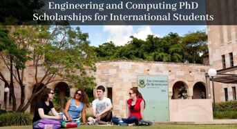 UQ Engineering and Computing PhD Positionsfor International Students in Australia, 2020