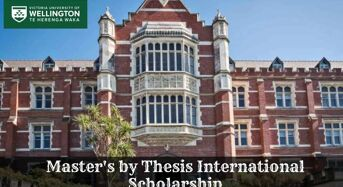Victoria University of Wellington Master's by Thesis International Scholarship, 2020