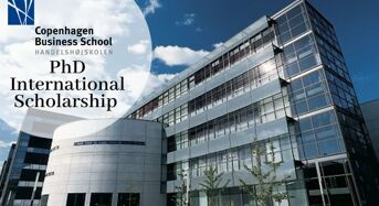 Copenhagen Business School PhD International Scholarship in History of Nordic Civil Society, Denmark