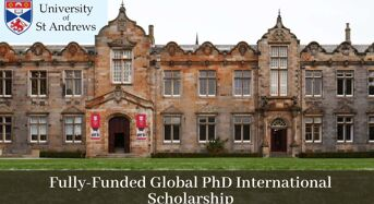 Fully-FundedGlobal PhD International Scholarship in Computer Science at University of St Andrews, 2020