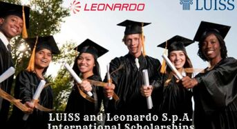 LUISS and Leonardo S.p.A. international awards in Italy, 2020