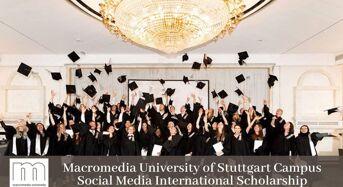 Macromedia University of Stuttgart Campus Social Media International Scholarship in Germany, 2020
