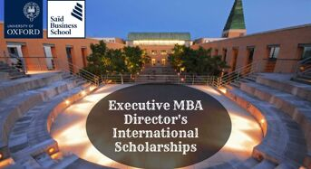 Oxford Sa ïd Business School Executive MBA Director's international awards in UK, 2020