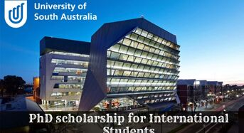 PhD funding for International Students at University of South Australia, 2020