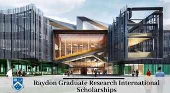 Raydon Graduate Research international awards at Monash University in Australia, 2020