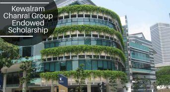 SMU Kewalram Chanrai Group Endowed funding for International Students in Singapore, 2020
