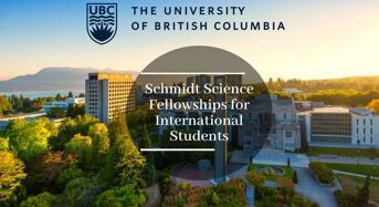 UBC Schmidt Science Fellowships for International Students in Canada, 2020