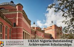 UKEAS Nigeria Outstanding Achievement Scholarships at University of Birmingham in UK, 2020
