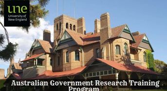UNE Australian Government Research Training Program (RTP) International Stipend Scholarship, 2020
