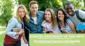 Alberta University of the Arts International Entrance Scholarship in Canada