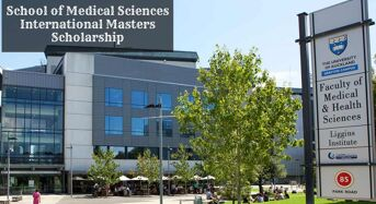 Auckland School of Medical Sciences International masters programme in New Zealand, 2020