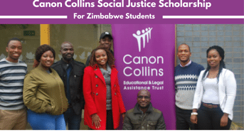 Canon Collins Social Justice Scholarship in South Africa, 2020