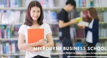 Clemenger BBDO funding for International Students at Melbourne Business School, Australia