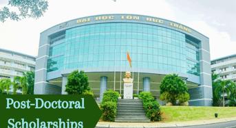Post-DoctoralScholarships at Ton Duc Thang University, Vietnam