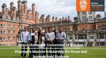 Royal Holloway Principal's Masters funding for International Students in UK