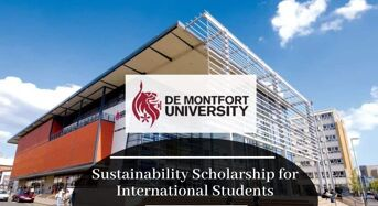 Sustainability funding for International Students at De Montfort University in UK, 2020