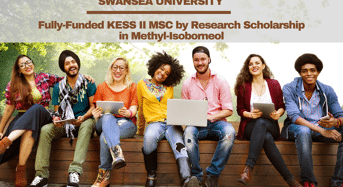 Fully-FundedKESS II MSC by Research Scholarship in Methyl-Isoborneolat Swansea University in UK
