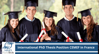 International PhD Thesis Position CEMEF in France, 2020