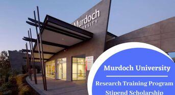 Murdoch University International Research Training Program Stipend Scholarship in Australia