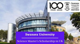 Swansea University Science Master's funding for UK and EU Students in UK