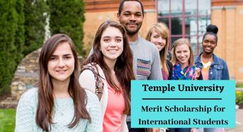 Temple University Merit funding for International Students in the USA