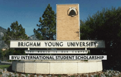 BYU International Student Scholarships in the USA