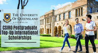 CSIRO Postgraduate Top-Upinternational awards at University of Queensland in Australia, 2020