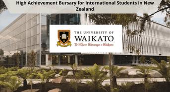 High Achievement Bursary for International Students in NewZealand