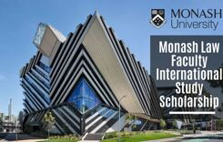 Monash Law Faculty International Study Scholarships in Australia, 2020